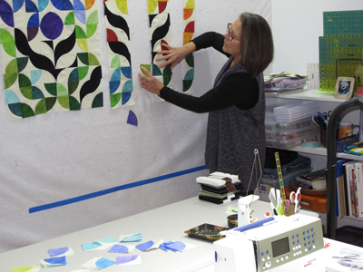 Lisa in her studio